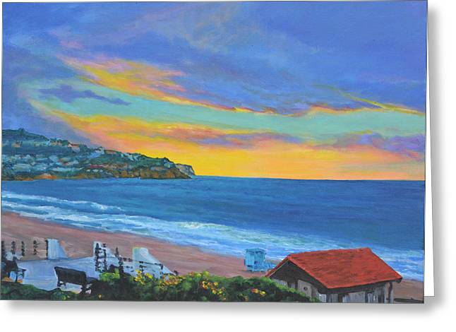 Palos Verdes Cove Greeting Cards - Winter Dusk Greeting Card by Kaz Chandler