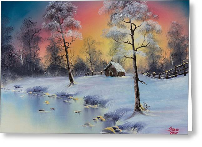 Winter's Grace Greeting Card by C Steele