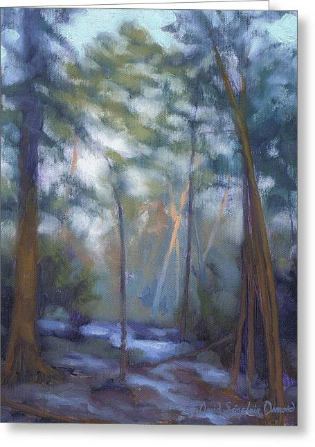 Fontainebleau Forest Greeting Cards - Winter evening - Soiree hivernale Greeting Card by David Ormond