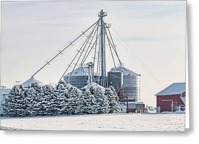 Winter Farm  7365 Greeting Card by Jack Schultz
