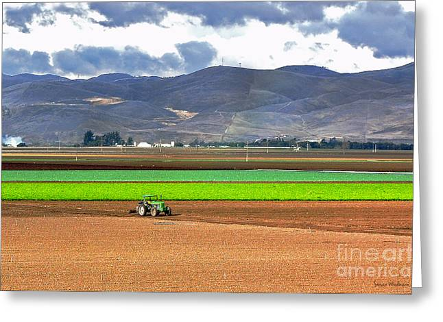 Susan Wiedmann Greeting Cards - Winter Farm in California Greeting Card by Susan Wiedmann