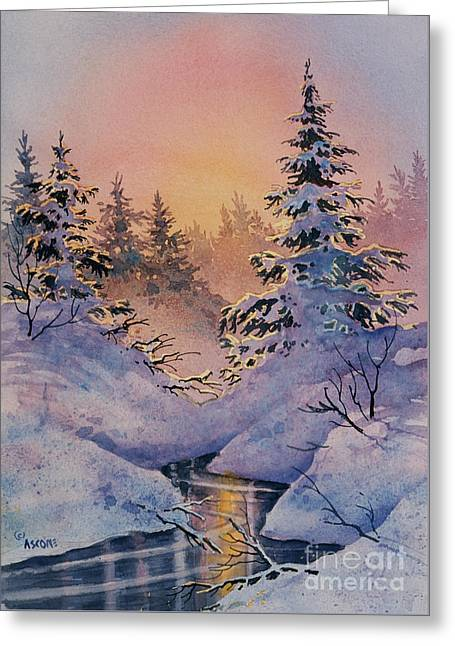 Impressionist Greeting Cards - Winter Filigree Greeting Card by Teresa Ascone