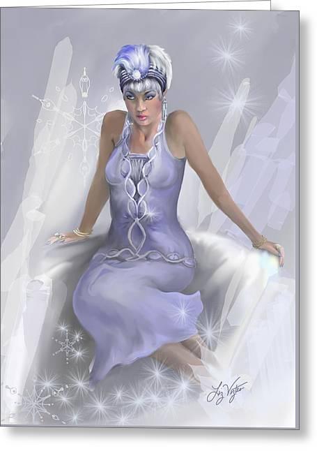 Liz Viztes Greeting Cards - Winter Flame Greeting Card by Liz Viztes