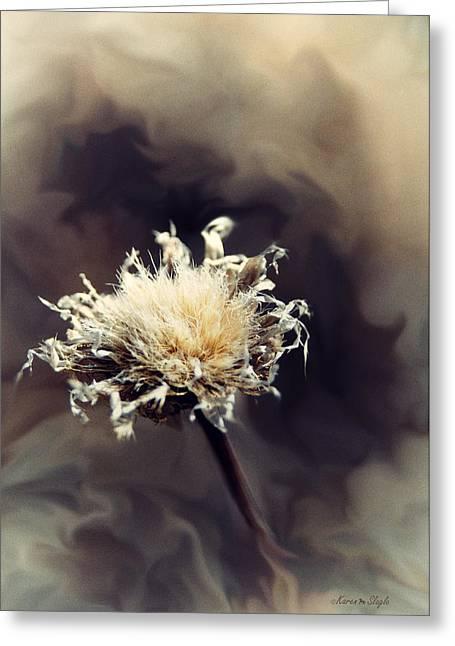 Karen Slagle Greeting Cards - Winter Flower Greeting Card by Karen Slagle