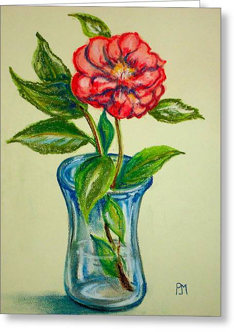 Floral Pastels Greeting Cards - Winter Flower Greeting Card by Pete Maier