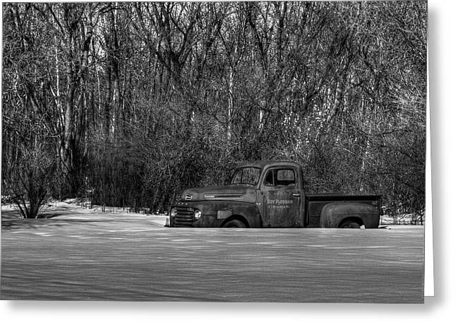 White Truck Greeting Cards - Winter Ford Truck 1 Greeting Card by Thomas Young