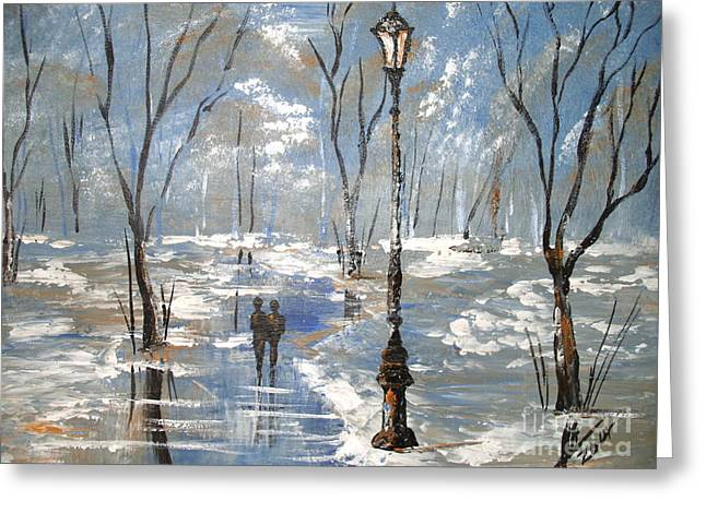 Winter Frost Greeting Card by Collin A Clarke