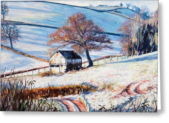 Shack Greeting Cards - Winter Frost Greeting Card by Tilly Willis