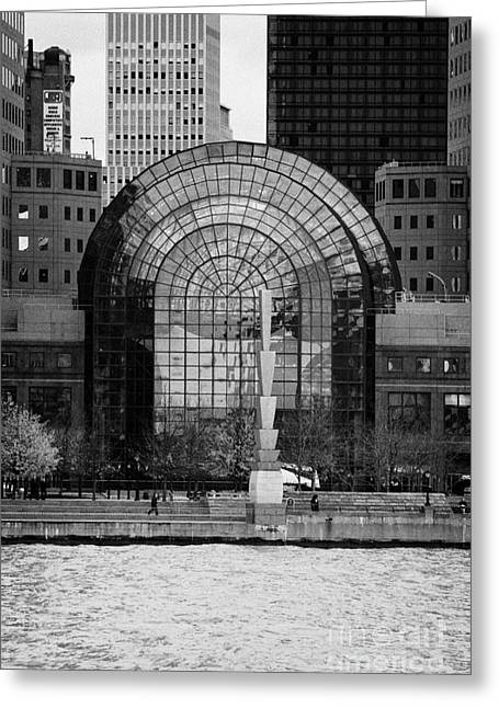 Winter Garden At World Trade Financial Center New York City Greeting Card by Joe Fox