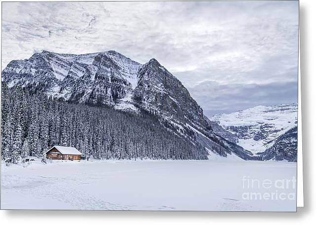 Banff Greeting Cards - Winter Getaway Greeting Card by Evelina Kremsdorf