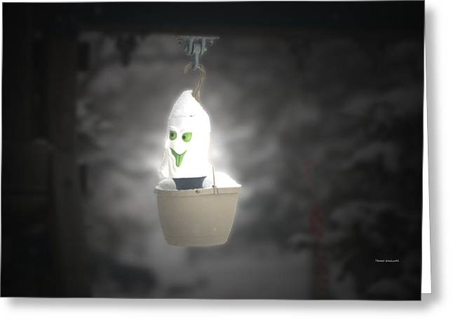 Storm Prints Digital Art Greeting Cards - Winter Ghost Greeting Card by Thomas Woolworth