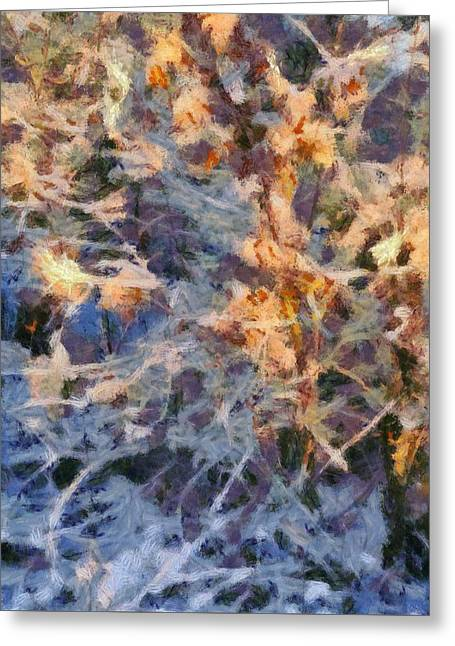 Snowstorm Mixed Media Greeting Cards - Winter Glory Greeting Card by Dan Sproul