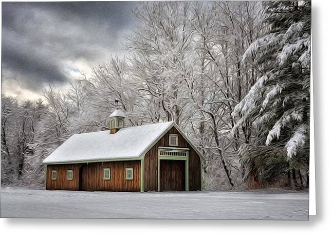 Winter Glow Greeting Card by Tricia Marchlik