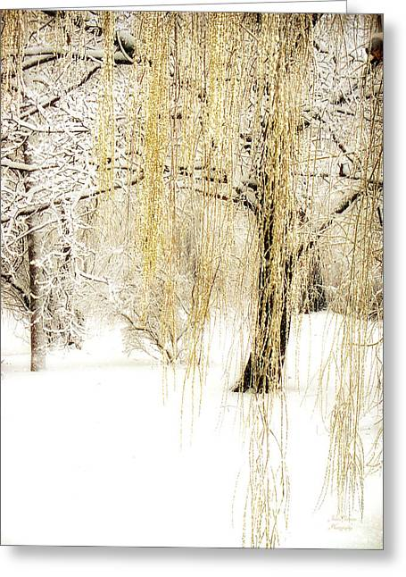 Winter Scene Photographs Greeting Cards - Winter Gold Greeting Card by Julie Palencia