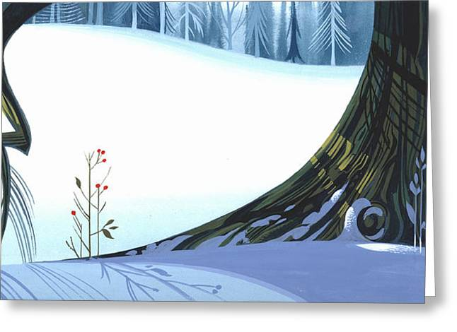 Winter Landscape Paintings Greeting Cards - Winter Grace Greeting Card by Michael Humphries