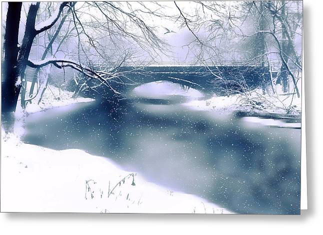 Winter Landscape Digital Greeting Cards - Winter Haiku Greeting Card by Jessica Jenney