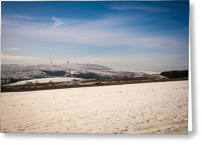 England Greeting Cards - Winter Hill Snow. Greeting Card by Daniel Kay