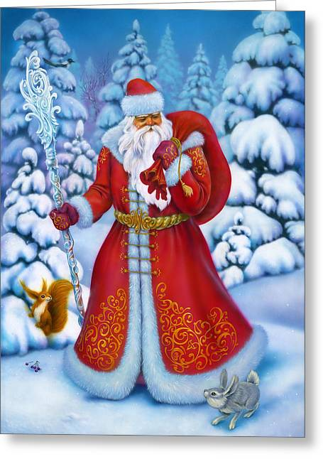 Maiden Greeting Cards - Merry Christmas Greeting Card by Eldar Zakirov