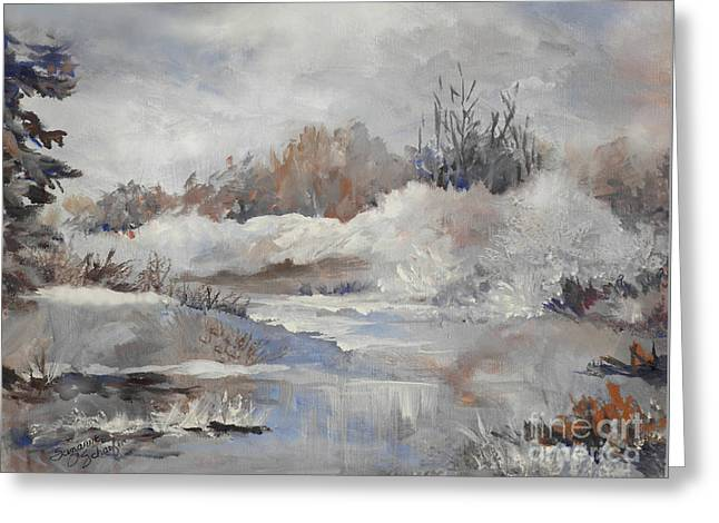 Winter Impressions Greeting Card by Suzanne Schaefer