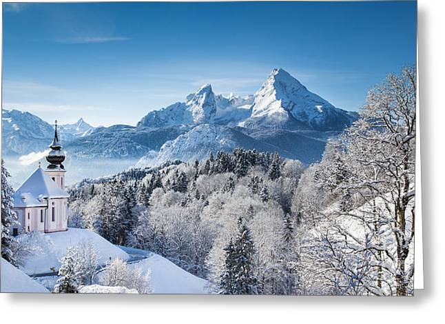 Winter In Bavaria Greeting Card by JR Photography