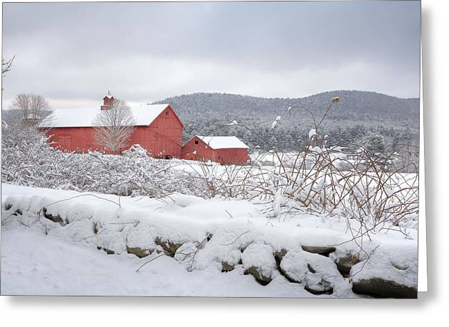Best Sellers -  - New England Snow Scene Greeting Cards - Winter in Connecticut Greeting Card by Bill  Wakeley
