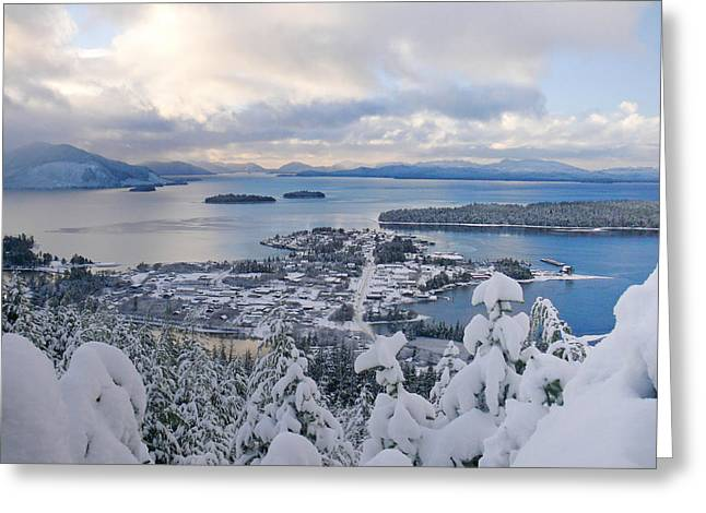 Recently Sold -  - Snowy Evening Greeting Cards - Winter in Craig Alaska Greeting Card by Stephanie Jurries