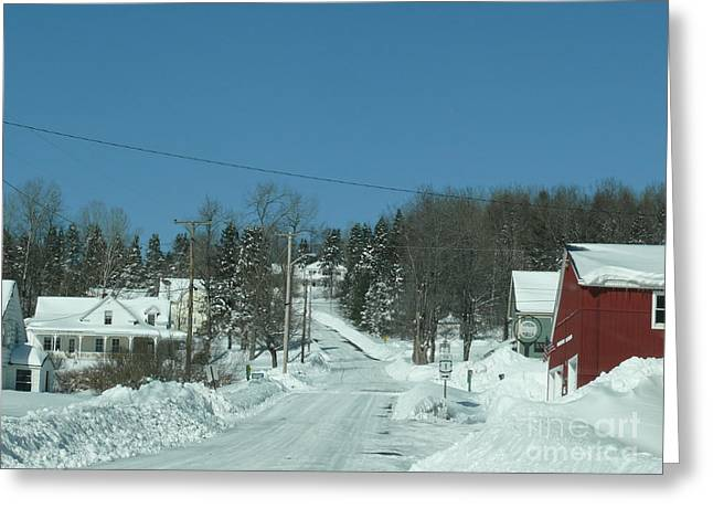 Winter in Maine Greeting Card by Brenda Ketch