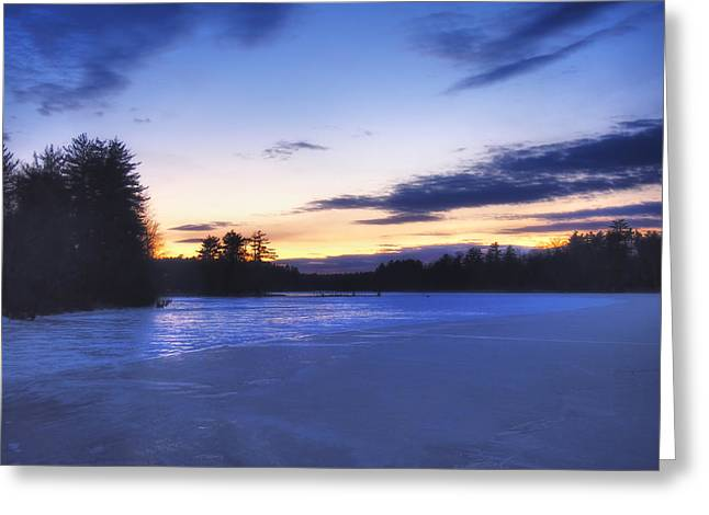 Snowy Evening Greeting Cards - Winter in New England Greeting Card by Joann Vitali