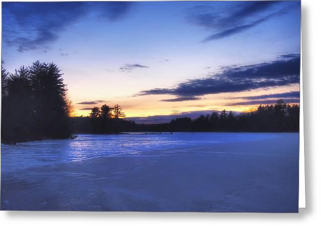 New England Snow Scene Greeting Cards - Winter in New England Greeting Card by Joann Vitali