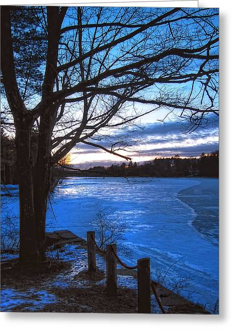 New England Snow Scene Greeting Cards - Winter in New Hampshire Greeting Card by Joann Vitali