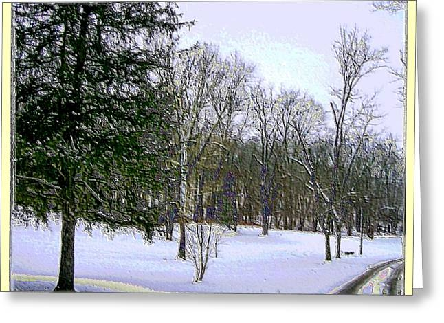 Winter Photos Mixed Media Greeting Cards - Winter in Purplish Hues Greeting Card by Skyler Tipton