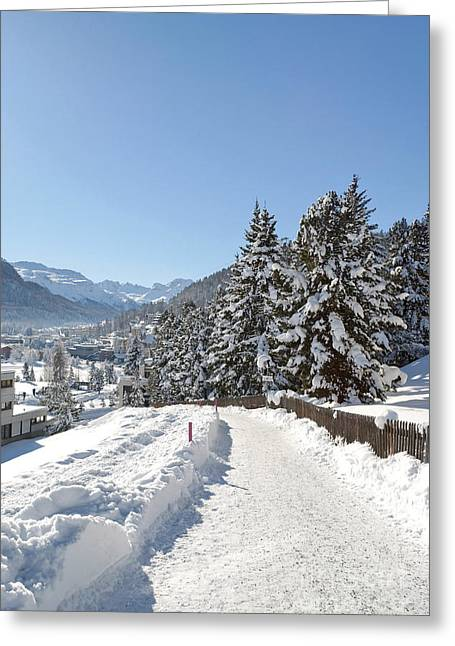 Winter In Switzerland Greeting Card by Design Windmill