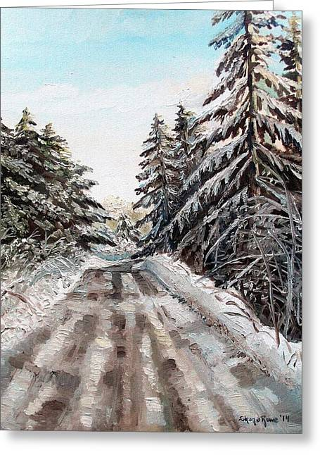 Boonies Greeting Cards - Winter in the Boons Greeting Card by Shana Rowe