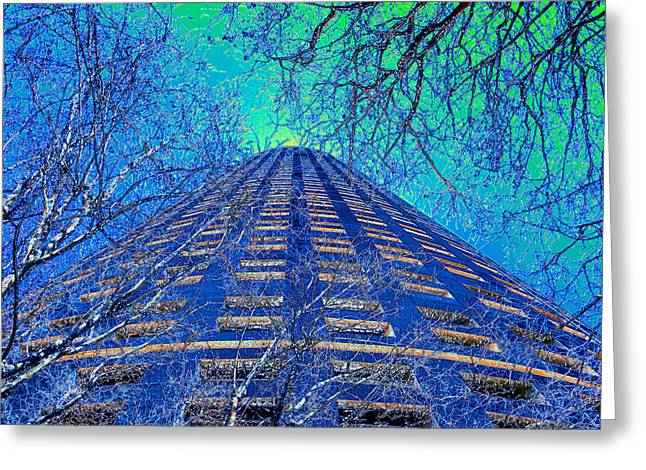 Snowy Day Greeting Cards - Winter in the City Greeting Card by David Lee Thompson