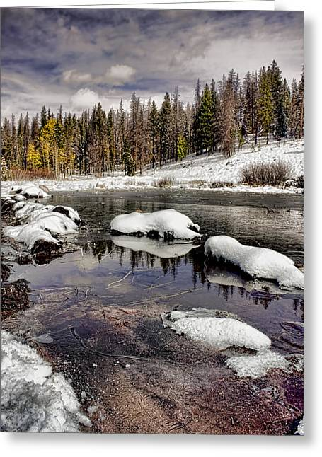 Clean Water Digital Art Greeting Cards - Winter in the High Country Greeting Card by Ellen Heaverlo