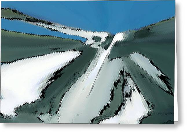 Snow-covered Landscape Digital Greeting Cards - Winter In The Mountains Greeting Card by Ben and Raisa Gertsberg