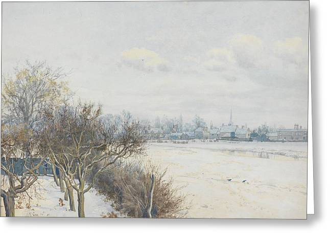 Winter in the Ouse Valley Greeting Card by William Fraser Garden