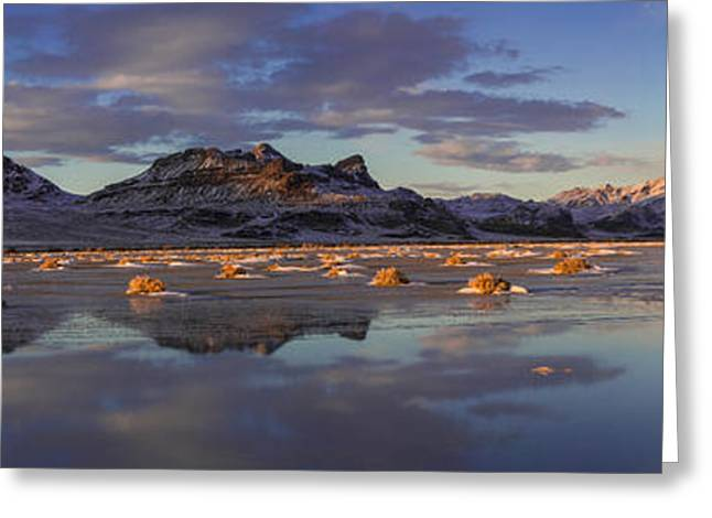 Nikon Greeting Cards - Winter in the Salt Flats Greeting Card by Chad Dutson