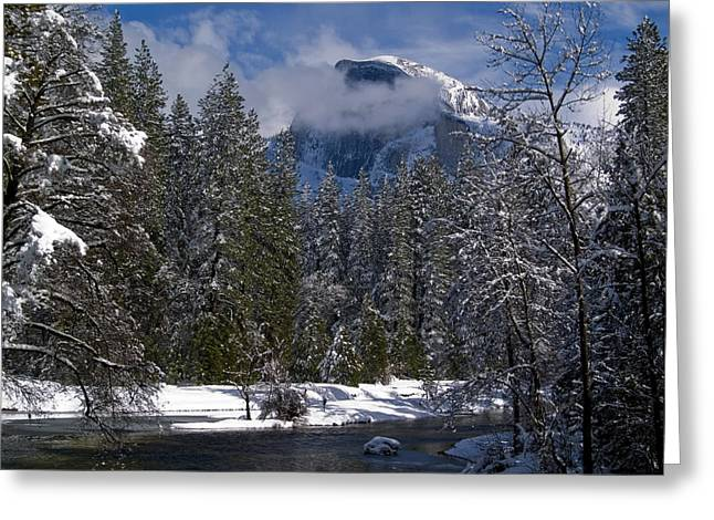 Winter in the Valley Greeting Card by Bill Gallagher