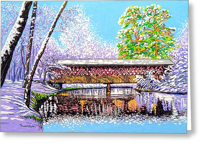 Winter into Spring Greeting Card by David Linton