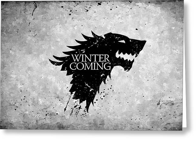 Game Greeting Cards - Winter is Coming Greeting Card by Florian Rodarte