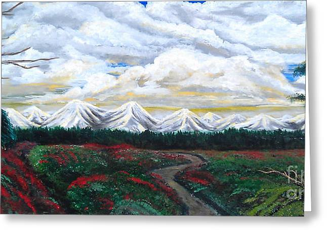 Erik Coryell Greeting Cards - Winter on the horizon.  Greeting Card by Erik Coryell