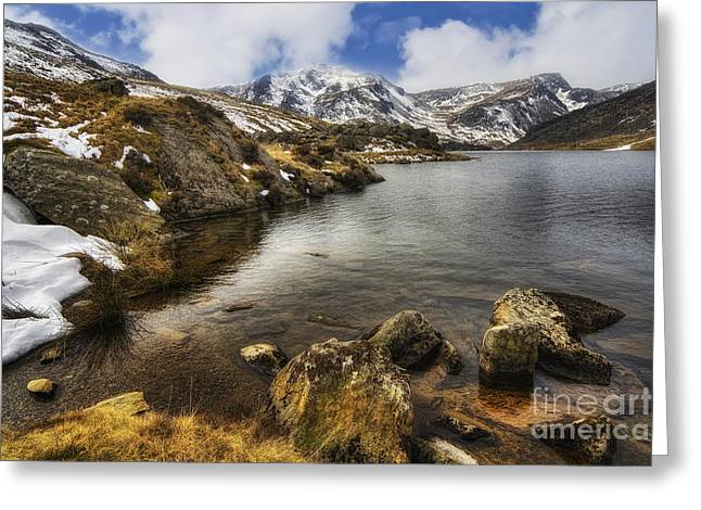 River View Greeting Cards - Winter Lake Greeting Card by Ian Mitchell