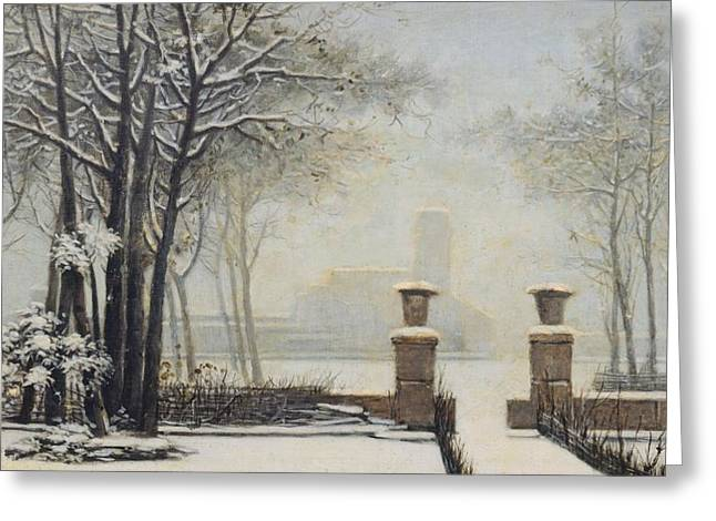 Winter Landscape Greeting Card by Alessandro Guardassoni