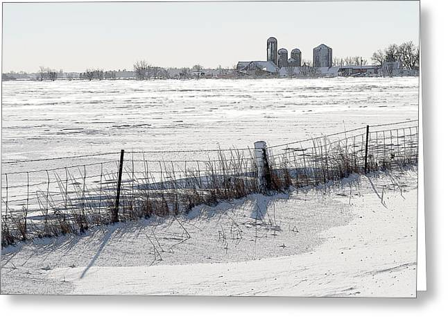 Winter Scene Greeting Cards - Winter Landscape in the Ottawa Valley Greeting Card by Rob Huntley