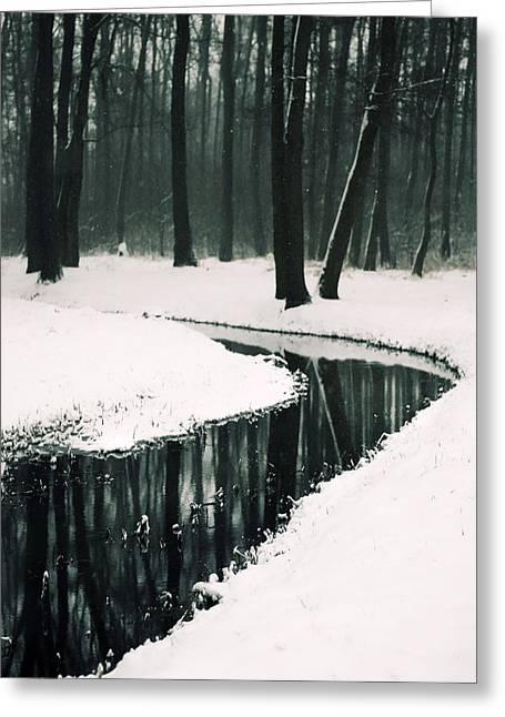Dream-like Greeting Cards - Winter landscape Greeting Card by Joanna Jankowska