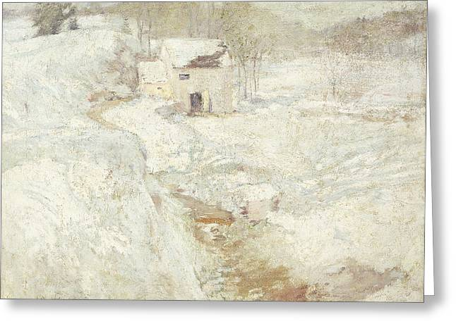 Winter Landscape Greeting Card by John Henry Twachtman