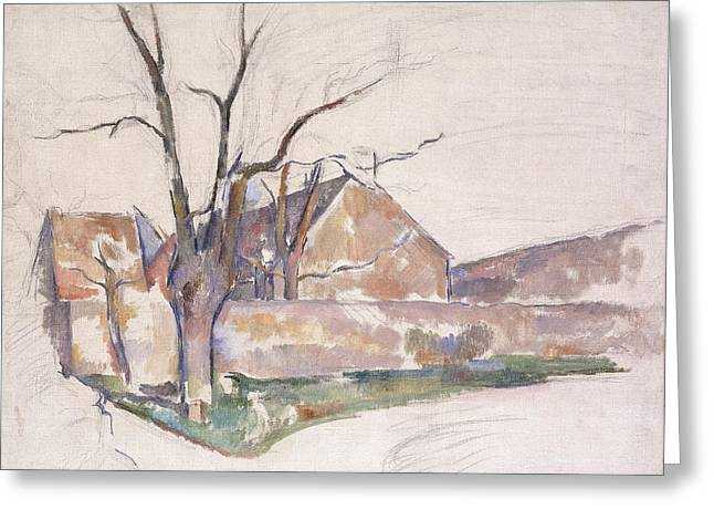 Wintry Greeting Cards - Winter Landscape Greeting Card by Paul Cezanne