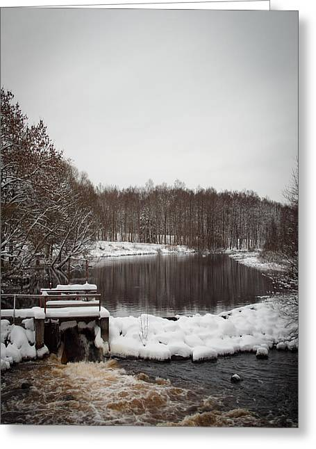 Winter Landscape Greeting Card by Robert Hellstrom