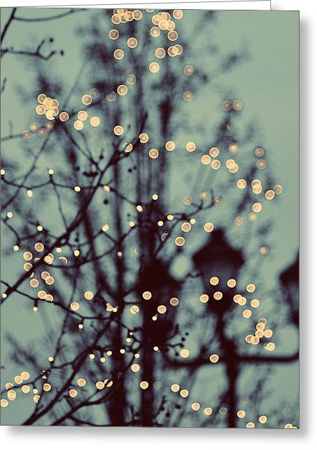 Gloaming Greeting Cards - Winter Lights Greeting Card by Elle Moss